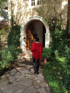 Entering one of the beautiful homes on the tour.